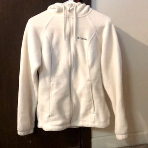 Columbia fleece zip up w/ hood